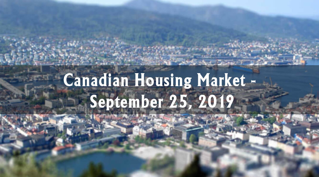 Canada Housing Market Update – September 25, 2019